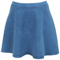 Light Blue Denim Skater Skirt