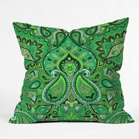 DENY Designs Home Accessories | Aimee St Hill Paisley Green Throw Pillow