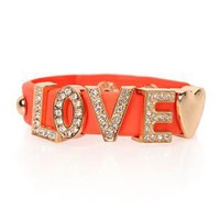 snap bracelet with love written in stones - 1000044307 - debshops.com