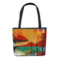 Fire in the Sky Bucket Bag&gt; Handbags &amp; Clasp Wallets&gt; Janet Antepara Designs