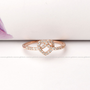 girlsluv.it - KNOT HEART ring with crystals, 3 colors;