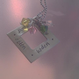 Custom Made Necklace Square Pendant with up to four Swarovski Charms