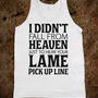 I Didn't Fall from Heaven - Echo Shirts - Skreened T-shirts, Organic Shirts, Hoodies, Kids Tees, Baby One-Pieces and Tote Bags