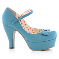 Feeling Blue Maryjane Platform Heels