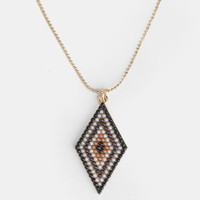 Tribal Triangle Necklace - $13.00 : ThreadSence, Women&#x27;s Indie &amp; Bohemian Clothing, Dresses, &amp; Accessories