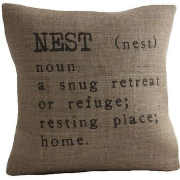 $38.95 Nest Pillow by betsyjarvis on Etsy