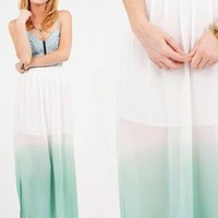 Sea Foam Maxi Skirt