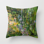 Giverny Throw Pillow by agnes Trachet