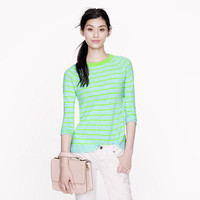 Collection cashmere raglan sweater in stripe
