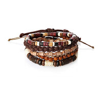 Brown wrist beads