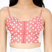 Dot Angeles Bustier Top $28