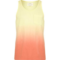 Yellow dip dye vest