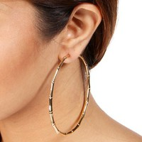 Gold XL Bamboo Hoops