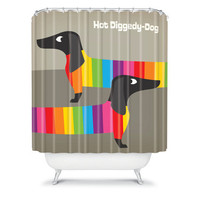DENY Designs Home Accessories | Anderson Design Group Rainbow Dogs Shower Curtain