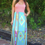Back To My Roots Maxi Dress: Peach | Hope's