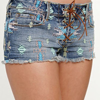 Kendall & Kylie Embroidered Lace Up Shorts at PacSun.com
