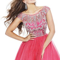 Sherri Hill 2814 Coral Cocktail Dress