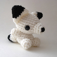 Arctic Fox Kit Amigurumi Doll by MoonsCreations