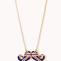 British Mustache Necklace