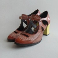 Vintage Cowleather Heeled Shoes