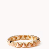 Stretchy Colorblocked Spike Bracelet