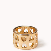 Cutout Hearts Ring