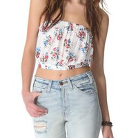 Free People Smocked Back Picnic Crop Top | SHOPBOP