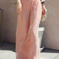 Irregular Pink Culotte Pant