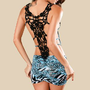 Romantic moments  3543 lace halter folding vest dress