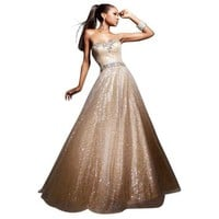 Gold Ball Gown 113513 by Tony Bowls