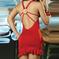 Temptation  your eyes — Dress deep V tight backless dress