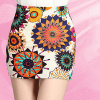 Temptation  your eyes  Short skirt fashion printing package hip super sexy cultivate one&#x27;s morality short skirts