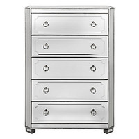 Simplicity Mirrored 5 Drawer Tall Chest | Mirrored-furniture | Furniture | Z Gallerie
