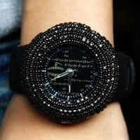 shoppinggirl- fashion shopping mall  [grhjr41500042]Fashion Watch, all over the sky star