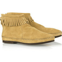 Minnetonka|Suede moccasin ankle boots|NET-A-PORTER.COM