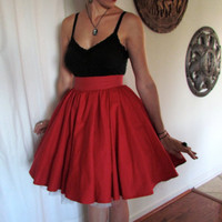 Simple Knee Length Circle Skirt by CharmCityCurios on Etsy