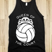 Queen of the Court (Dark Tank) - Sports Girl - Skreened T-shirts, Organic Shirts, Hoodies, Kids Tees, Baby One-Pieces and Tote Bags