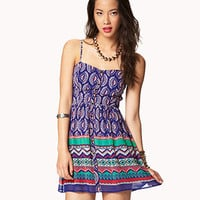 Boho Print Georgette Dress
