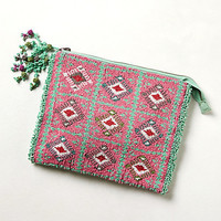 Gameboard Beaded Clutch