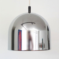 Mid Century Chrome Pendant Light