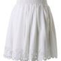 White Pleated Skater Skirt with Cut Out Detail