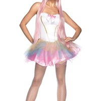 85010 Fantasy Unicorn Costume WHITE/PINK