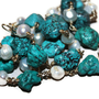 classicus - turquoise and pearl necklace by lilla stjarna - handmade birthday - 14k gold - gifts under 75 - Beaded Chunky - Natural Gemstone