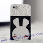 cute rabbit iphone 5 cases,unique iphone 4s case with full pearls, iphone4 cases