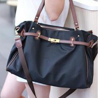 SIMPLE DESIGN CNAVAS HANDBAG SHOULER BAG