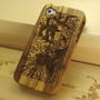 Amazon.com: Dragon and Phoenix Natural Handmade Hard Wood Bamboo Case Cover Protective Shell for Iphone 4 / 4s: Cell Phones &amp; Accessories