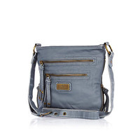 Blue mini cross body messenger bag