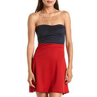 Ruched Bust 2-Fer Tube Dress: Charlotte Russe