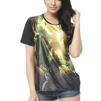 Starry Night  Sunrise Art Printing T-shirt