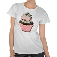 Cute muffin cupcake design Illustration T-shirts from Zazzle.com